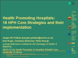 Health Promoting Hospitals Technically supported by Health Promoting