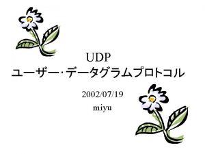tcpdump tcpdump UDP UDP Checksum 1 0 0