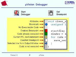 Vision Debugger Set Breakpoint Start Debugger Version 1