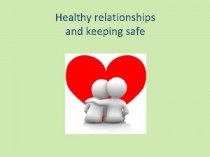 Healthy relationships and keeping safe being healthy Relationships