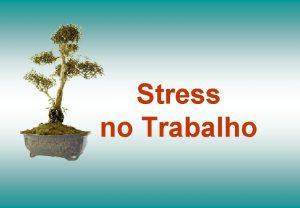 Stress no Trabalho Stress no Trabalho O que