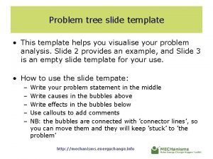 Problem tree slide template This template helps you