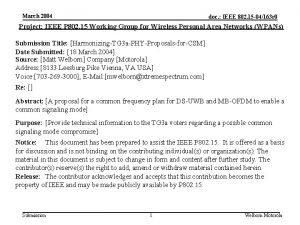 March 2004 doc IEEE 802 15 04163 r