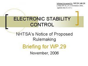 Informal document No WP 29 140 20 140