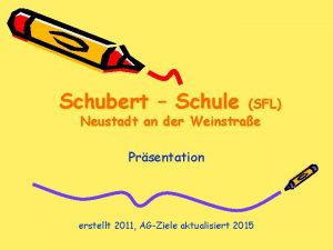 Schubert Schule SFL Neustadt an der Weinstrae Prsentation