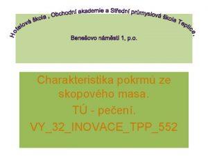 Charakteristika pokrm ze skopovho masa T peen VY32INOVACETPP552