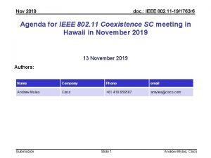 Nov 2019 doc IEEE 802 11 191763 r