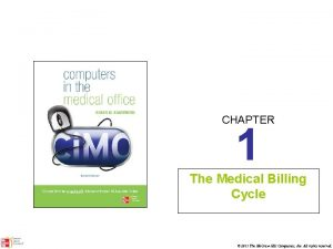 CHAPTER 1 The Medical Billing Cycle 2011 The