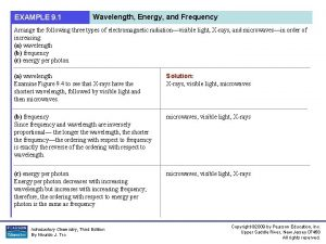 EXAMPLE 9 1 Wavelength Energy and Frequency Arrange