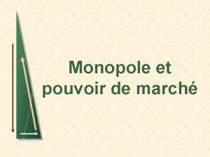 Monopole et pouvoir de march 2 Introduction n