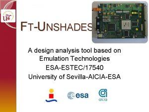 FTUNSHADES A design analysis tool based on Emulation