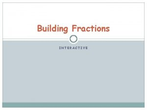 Building Fractions INTERACTIVE Start with Level 1 Start