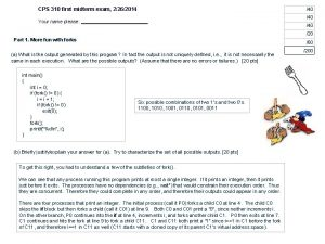 CPS 310 first midterm exam 2262014 40 Your