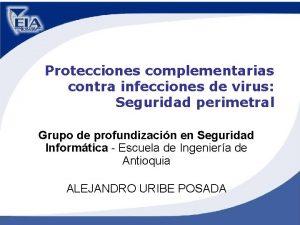 Protecciones complementarias contra infecciones de virus Seguridad perimetral