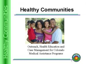 Trusts Resources Healthyand Communities Healthy Communities Outreach Health