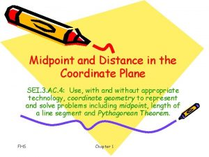 Midpoint and Distance in the Coordinate Plane SEI