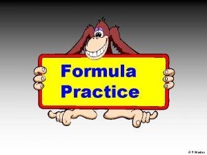 Formula Practice T Madas Pauls age equals Nicks