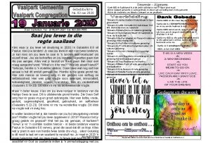 Gemeente Algemeen Gebedsbulletin No 03 van 2020 Deon