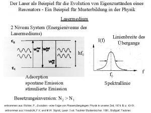 Der Laser als Beispiel fr die Evolution von