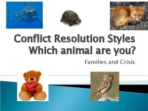 Conflict Resolution Styles Which animal are you Families