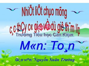 Gio vin Nguyn Xun Trng Ton Thnh ph