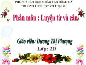 PHNG GIO DC O TO NG H TRNG