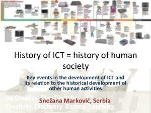 History of ICT history of human society Key