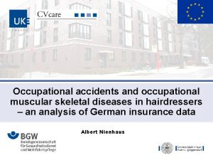 Occupational accidents and occupational muscular skeletal diseases in