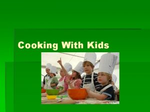 Cooking With Kids Cooking Skills by Age Match