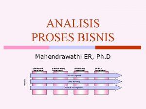 ANALISIS PROSES BISNIS Mahendrawathi ER Ph D Purchasing