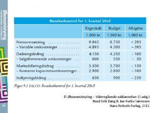 konomistyring Videregende uddannelser 3 udg Knud Erik Bang