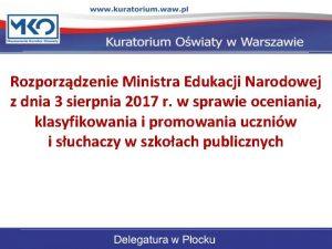 Rozporzdzenie Ministra Edukacji Narodowej z dnia 3 sierpnia