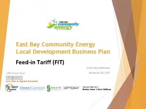 East Bay Community Energy Local Development Business Plan