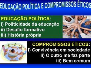 EDUCAO POLTICA i Politicidade da educao ii Desafio