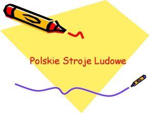 Polskie Stroje Ludowe Stroje Krakowskie Strj dziecicy dla