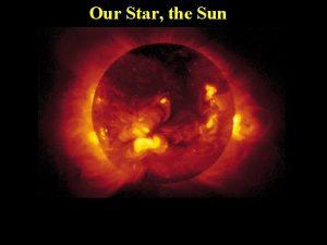 Our Star the Sun The Sun Our Star