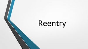 Reentry What is Reentry The reentry process begins