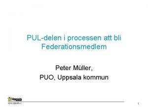 PULdelen i processen att bli Federationsmedlem Peter Mller