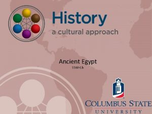 Ancient Egypt SSWH 1 b Time and Geography