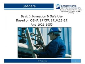 Ladders Bureau of Workers Compensation PA Training for