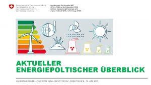 AKTUELLER ENERGIEPOLTISCHER BERBLICK GENERALVERSAMMLUNG FORUM VERA BENOT REVAZ
