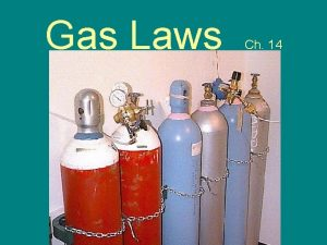 Gas Laws Ch 14 Gases Kinetic Molecular Theory