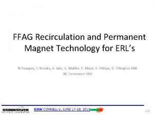 FFAG Recirculation and Permanent Magnet Technology for ERLs