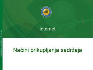 Udbenik informatike za 6 razred Internet Naini prikupljanja