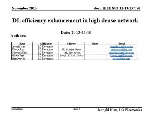 November 2013 doc IEEE 802 11 131377 r