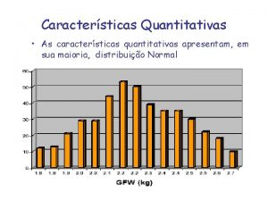 Caractersticas Quantitativas As caractersticas quantitativas apresentam em sua