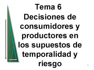 Tema 6 Decisiones de consumidores y productores en