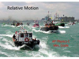 Relative Motion AP Physics C Mrs Coyle Relative