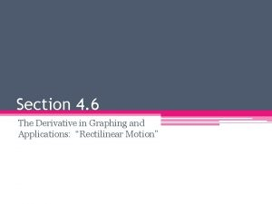Section 4 6 The Derivative in Graphing and