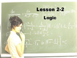 Lesson 2 2 Logic Ohio Content Standards Ohio